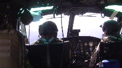 Interior UH-1H Helicopter (HD) c Stock Footage