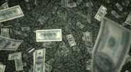 Stock Video Footage of $100 Bills Raning Down - US