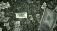$100 Bills Raning Down - US Stock Footage