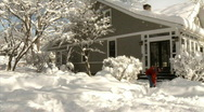 Shoveling Snow 546 Stock Footage