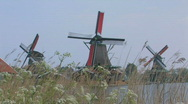 Holland windmill Stock Footage