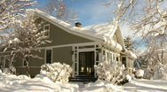 Winter House 533 Stock Footage