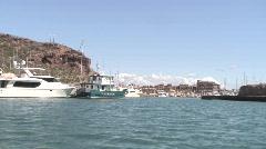 Entering San Carlos, Mexico Harbor 2 of 2 Stock Footage