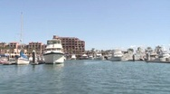 Stock Video Footage of  Entering San Carlos, Mexico Harbor 1 of 2
