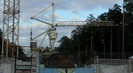 Rail crane turns Stock Footage