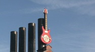 Stock Video Footage of HardRock Cafe Guitar