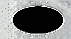 6015L Wedding Oval Picture frame heart lace  Stock Footage