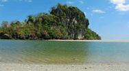 Island lagoon Stock Footage
