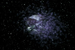 universe fly through loop NTSC by in - stock footage
