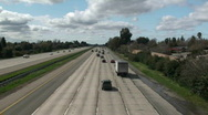 Freeway traffic Stock Footage