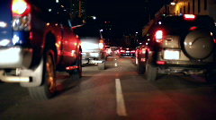 Stuck in City Traffic Stock Footage
