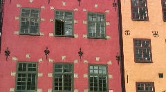 Stockholm Old Town architecture Stock Footage
