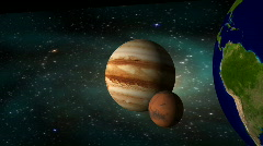 Traveling Through Space Watching the Planets Go By Flying though Space - stock footage