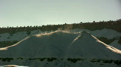 Fog Coming Off a Hill in the Mountains in the Middle of Winter Stock Footage