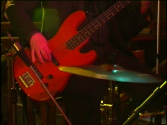 Bass guitar in action Stock Footage