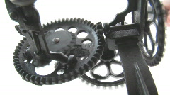 Primitive Machine With Rotating Gears Stock Footage