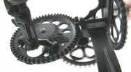 Stock Video Footage of Primitive Machine With Rotating Gears