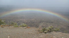 Kilauea Rainbow 2 Stock Footage