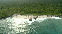 Bahamas aerial beach shot Stock Footage