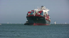 Container Ship - Port Of Los Angeles Series Stock Footage