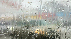 Snow and rain in cars traffic Stock Footage