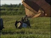 Raising a hot air balloon Stock Footage