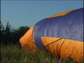 Balloon gas bag inflation Stock Footage
