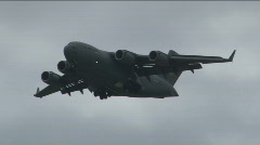 C-17 Flying - stock footage