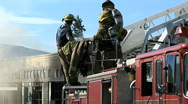 Stock Video Footage of Firefighting 2