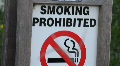 Smoking Prohibited Sign HD Footage