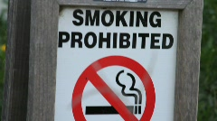 Smoking Prohibited Sign Stock Footage