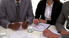 Successful business people closing a deal Stock Footage