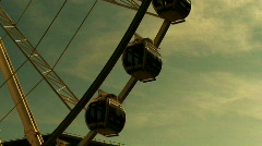 Large ferris wheel at a funfair 1 - stock footage