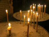 Stock Video Footage of Candles in Orthodox Church