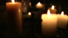 Soft Burning Candles Loop Stock Footage