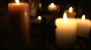 Stock Video Footage of Soft Burning Candles Loop