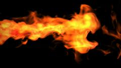 Red fire, Alpha channel is included Stock Footage