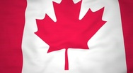Stock Video Footage of High-definition 3d render Flag of Canada