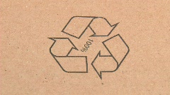 Recycle pictogram - stock footage