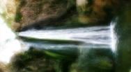 Waterfalls NC Vertical VJ Loop 01 Glow Stock Footage