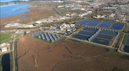 Aerial view of Solar Power Plant Stock Footage
