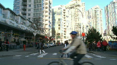 Crowded Intersection 1 of 2 Stock Footage