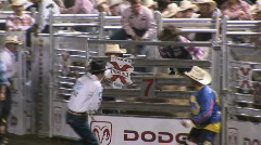 Pro bull riding - stock footage