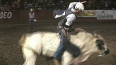 Spinning bull ride - stock footage