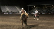 Jumping bronco ride Stock Footage