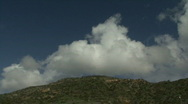 Stock Video Footage of Clouds hanging over hills in Malibu