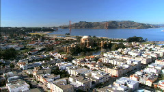 Aerial view of San Francisco Museum Stock Footage