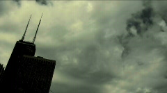 Stock Video Footage of Skyline Dark Clouds Time Lapse HD 720 by in