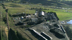 Aerial view of Mining Pit Stock Footage