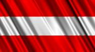 Austria Flag Loop 01 Stock Footage